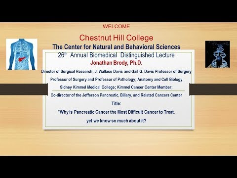 26th Annual Biomedical Distinguished Lecture - Jonathan Brody