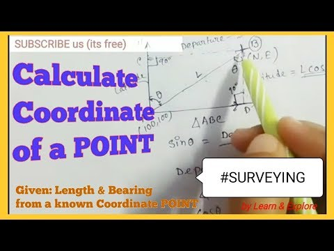 Coordinate System in Surveying//Concept//Theory (Calculation of Easting and Northing)
