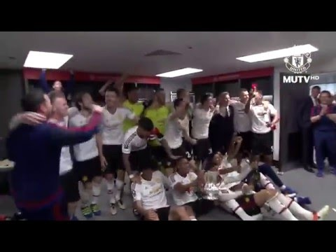 FA Cup Champion Manchester United Celebration in Dressing Room