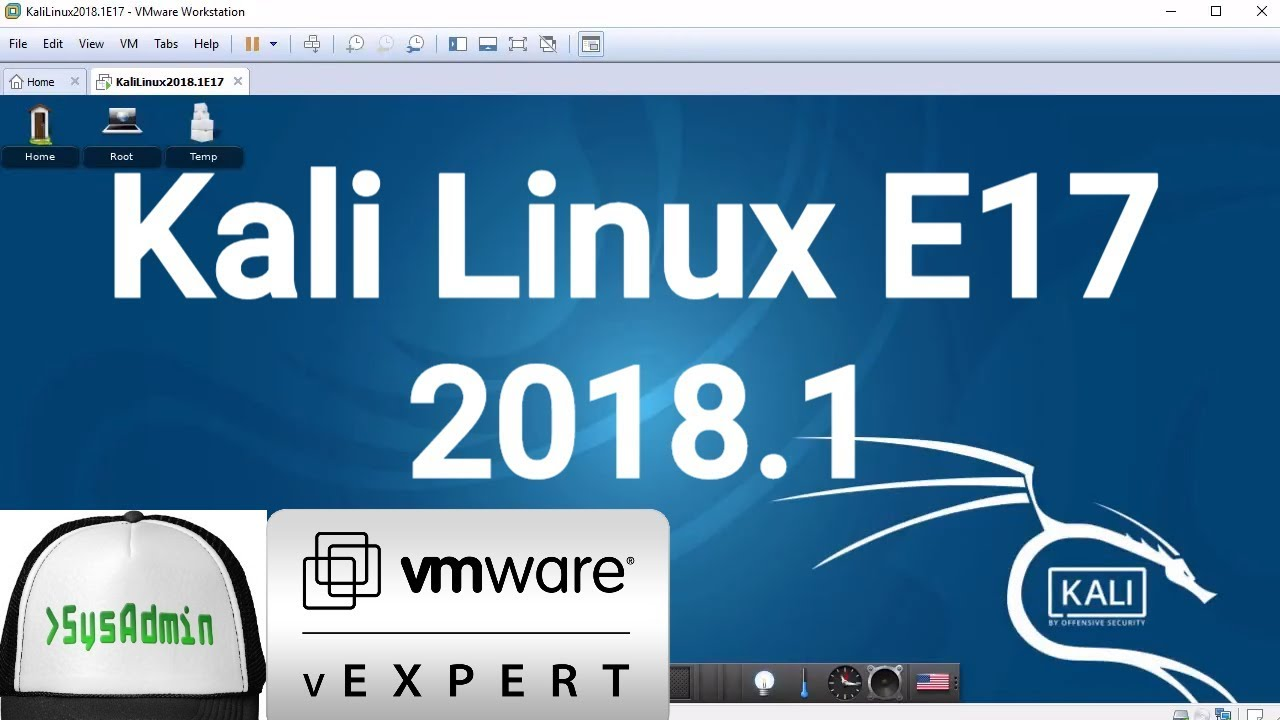How to Install Kali Linux E17 2018.1 + VMware Tools + Review on VMware Workstation [2018]