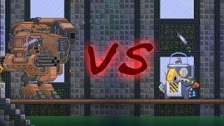 Starbound - ZZ Tau Mech vs Shockhopper MKI