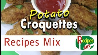 Potato croquettes a quick meal of beef and mash potato - Ramzan special recipe by Recipes Mix