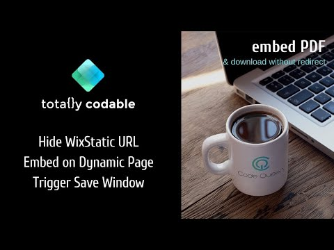 How to embed a PDF on a Dynamic Page using Wix Code (PDF Database)