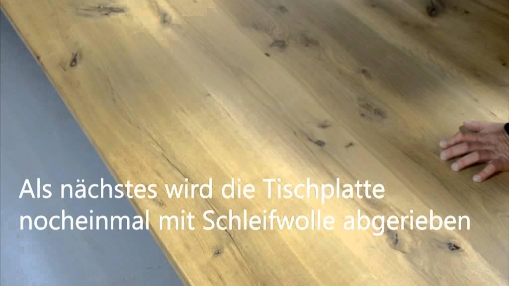 Holzfußboden Flecken Entfernen ~ Fettflecken auf massivholz entfernen youtube