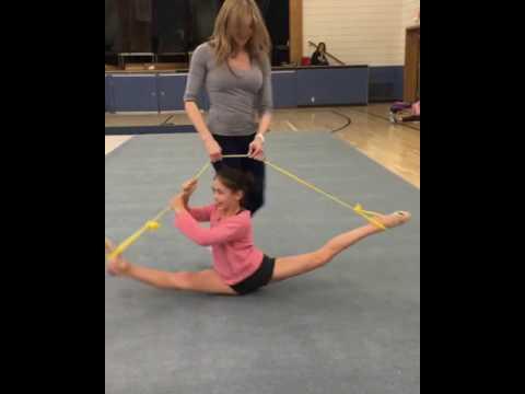 Little Girl Spins while Doing Splits