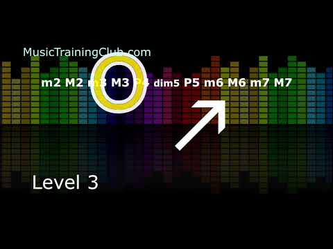 7 levels of Interval Singing test and practice. Develop your musical ear