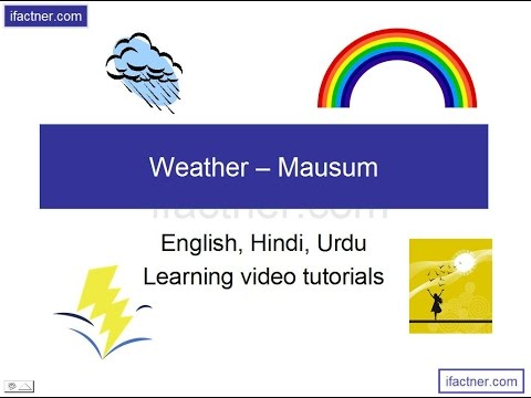 spoken english learning videos in hindi - WEATHER