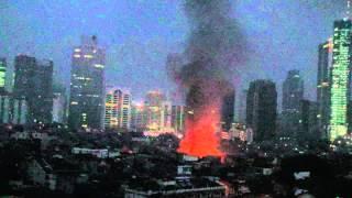 Kebakaran Pasar Mencos (Karet Belakang, Setiabudi, Jakarta Selatan) Minggu pagi (23/8)