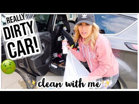 CLEAN WITH ME 2019 🤢CAR IS REALLY DIRTY! 😱CAR INTERIOR EXTREME CLEANING MOTIVATION! Brianna K