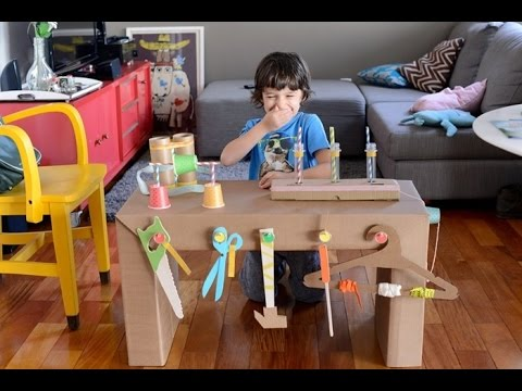Diy amazing ideas from cardboard box for kids home for Cardboard activities for toddlers