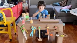 DIY Amazing Ideas From Cardboard Box For Kids Home Activities