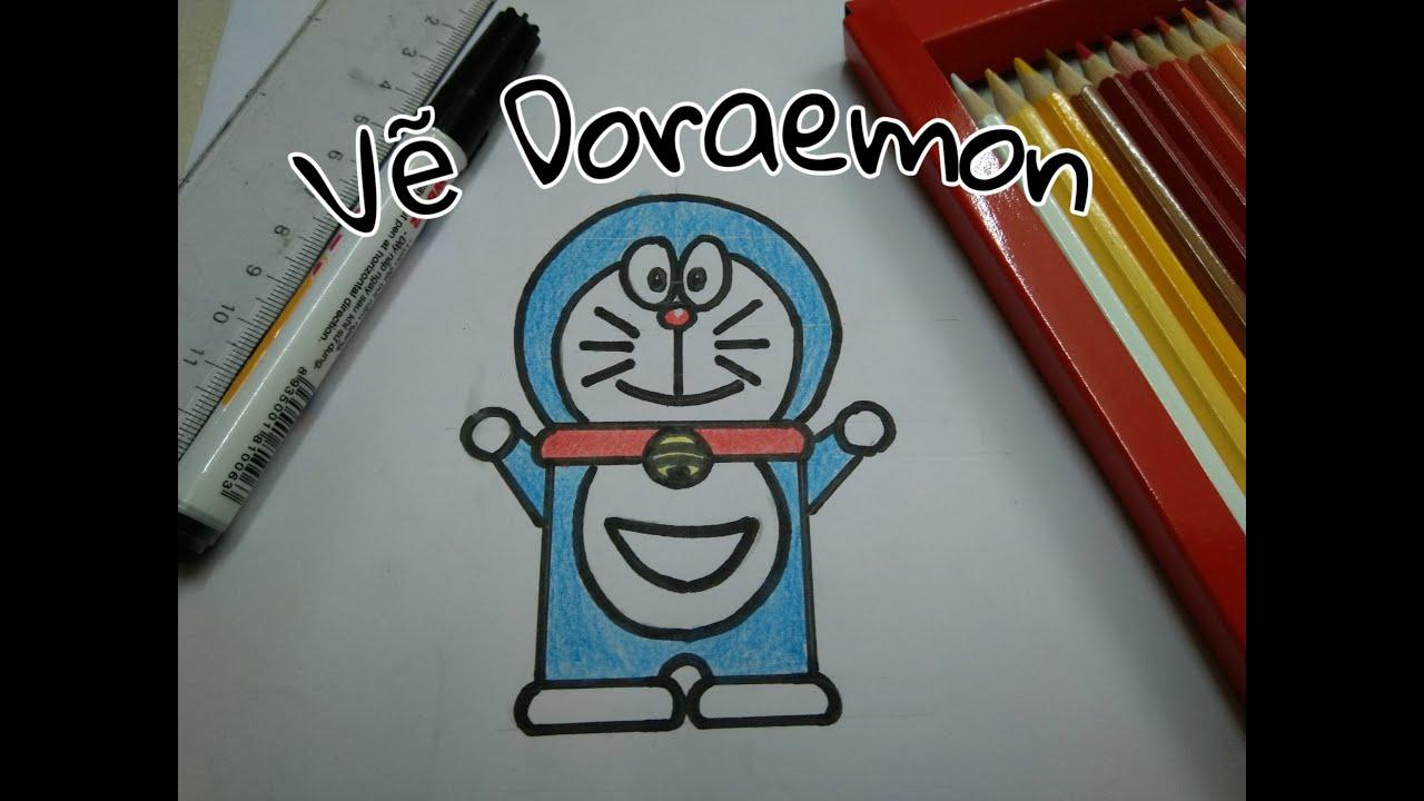 Cách vẽ Doraemon rất đơn giản – How to draw Doraemon