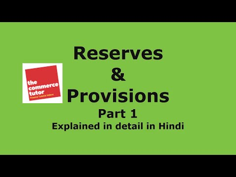 Reserves and Provisions explained in Hindi - Part 1