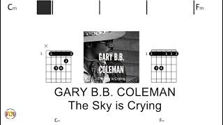 GARY B B  COLEMAN   The Sky is Crying  - (Chords & Lyrics like a Karaoke) HD