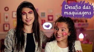 Desafio da maquiagem com Fe Concon e Gabriella Saraivah  ❤ Mundo da Menina