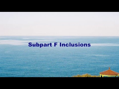 Subpart F:  Overview and Key Definitions