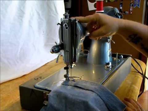 Stitchmatic sewing machine demonstration