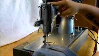 Stitchmatic sewing machine demonstration