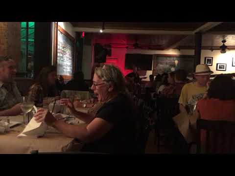 band at a restaurant singing a Tom Petty song