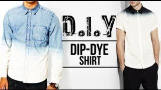 HOW TO: DIP-DYE (OMBRÉ) SHIRT ● D.I.Y TUTORIAL | JAIRWOO