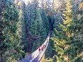 Crossing the Capilano Suspension Bridge in Vancouver, Canada