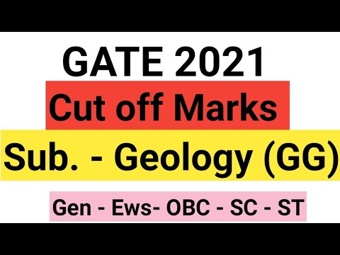 Gate  2021 | cut off Marks Geology  | GG | Gate 2021| Geology