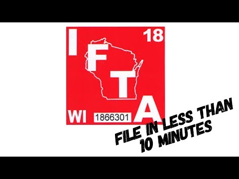 Trucking : IFTA Made Simple , Less Than 10 Minutes To File.