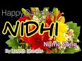 Nidhi Name Happy Birthday Song By Haresh Bhaskar