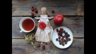 Как сделать пуговки из корицы и яблока для текстильной куклы
