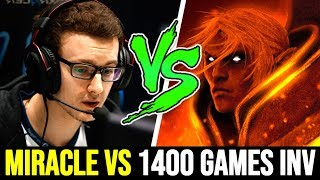 How MIRACLE deal with 1400 Games Invoker Spammer 7.22 Dota 2