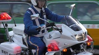 車を捨て逃走した交通違反車両運転手検挙(目撃者談)の援護に向かう警...