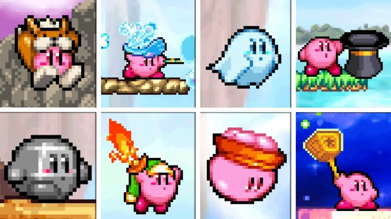 Kirby Squeak Squad - All Copy Abilities