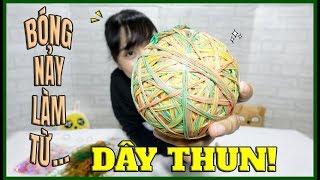 LÀM BÓNG TỪ DÂY THUN! (BANH CHƠI ĐƯỢC)고무밴드로 공만들기! - [MAKING RUBBER BALL]