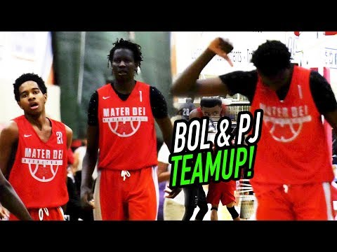 Bol Bol & PJ Fuller FIRST GAME TOGETHER! Bol Gives Alley-Oop Pass THUMBS DOWN!👎😂