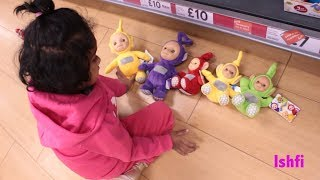 Funny Toddler Ishfi's Learning Colors with Teletubbies