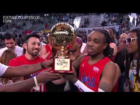 Quavo talks winning MVP at the Celebrity All-Star Game