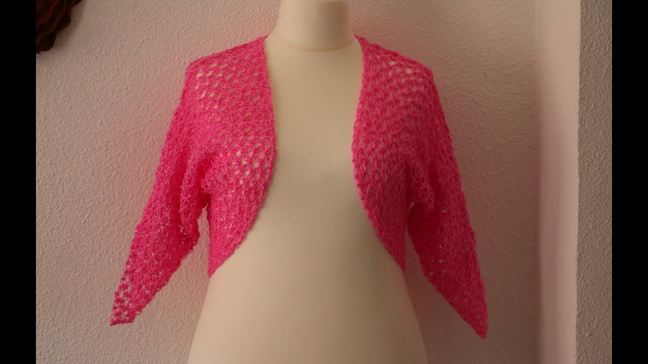 Como hacer bolero con mangas f cil y r pido a crochet - Jerseys faciles de hacer ...