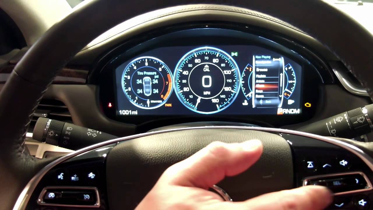 Cadillac XTS LCD Instrument Cluster - YouTube