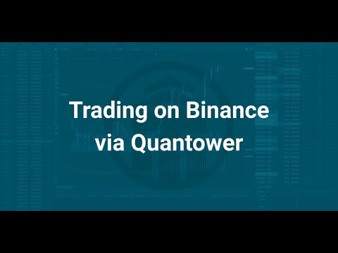 Trading on Binance via Quantower — Quick start