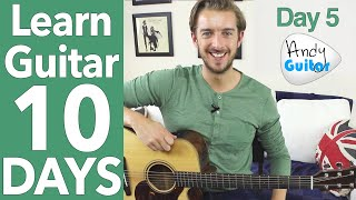 Guitar Lesson 5 - 'Ooh La la' Rod Stewart & NEW Melody! [10 Day Guitar Course ]