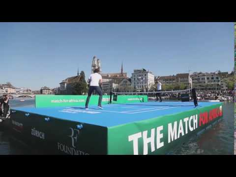 Federer & Murray Play tennis for the benefit of poverty in Africa