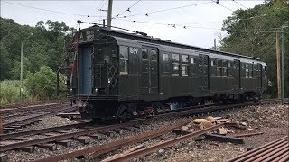 Shore Line Trolley Museum HD 60fps: NYC Subway R9 1689 & Lo-V 5466 Yard Moves (8/18/17)