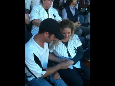 Yankee Stadium Marriage Proposal Youtube