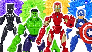 Фото Marvel Avengers Hulk Iron-man Bend And Flex Team Go  Dudupoptoy
