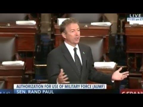 Senators KILL Rand Paul's Amendment To Force Congress To Vote On Current Wars