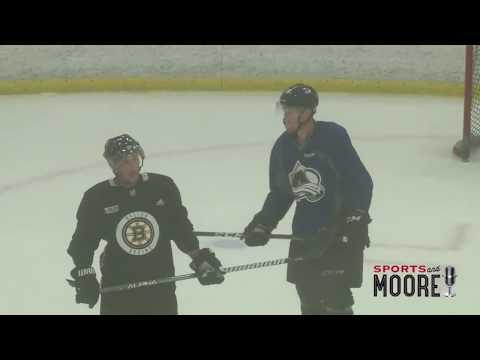 Crosby, Marchand, MacKinnon back home training