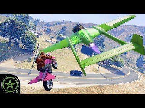 Jet Bikes VS Jet Planes - GTA V: Custom Game Modes