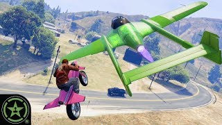 Jet Bikes VS Jet Planes - GTA V: Custom Game Modes