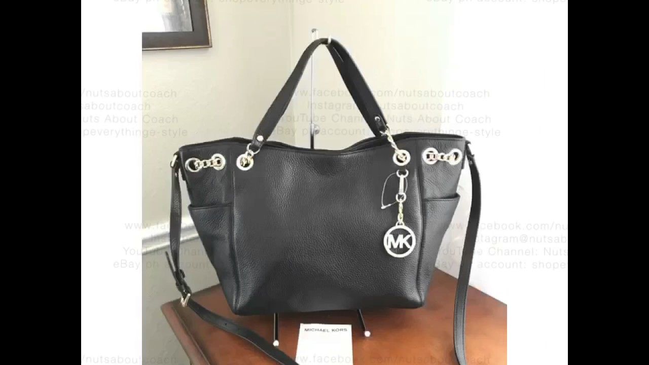 d0699a98c164 MICHAEL KORS JET SET CHAIN LARGE GATHER SHOULDER TOTE CONVERTIBLE ...
