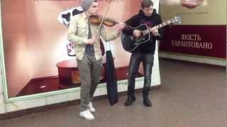 Titanium [David Guetta.feat Sia] acoustic subway cover (Violin and guitar)